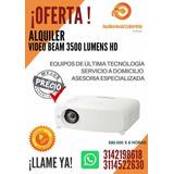 Alquiler Video Beam 3.500 Lumen $80.000 X 8 Horas 3142198618