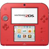 Nintendo 2ds + Mem 4gb +  6 Ar Cards + 11 Juegos Rojo