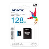 Memoria Micro Sd Adata 128 Gb 100 Mb/sg Clase 10 Fact Legal