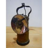 Lámpara De Minería A Carburo Marca Ata En Bronce - Grande