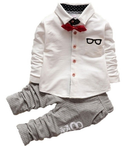 990485821 Ropa Infantil Para Niño Pantalón - Conjunto Bautizo Bebé