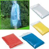 Capa Impermeable De Plastico Para La  Lluvia Con Marca