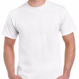 Camiseta Blanca Algodon 180gm Cuello Redondo Nacional