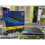 Ps3 Super Slim 500gb + Juegos + 2 Controles