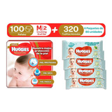 Huggies Natural Care M 100uds + Toallitas One & Done 4 Paq