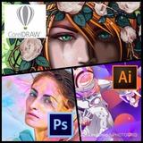 3 X 1 Diseño, Corel, Illustrator Y Photoshop  2019