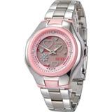 Reloj Casio Dama Lcf-10d Poptone Acero Y Cuero 100% Original