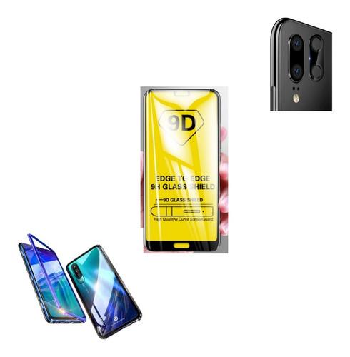 Kit  Protector Magnetico Huawei P20 Pro + Camara + Vidrio 9h