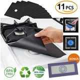 11 Pack Premium 10 Estufa De Gas Negro Cubre Quemadores 1 Bo