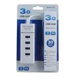 Hub Usb 3.0 4 Puertos De 5 Gbps Cable 30 + Envío Gratis