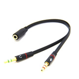 Cable Divisor De Audio Triestereo 2 Machos A 1 Hembra 3.5 Mm