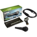 Microfono Shure Pga58 Cable Xlr Estuche Vocal Dinamico