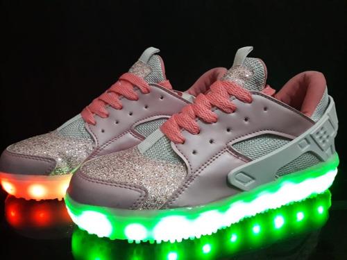 944ee9cd5 Zapato Tenis Led (luces - Luminosos) Garantía 3 Meses