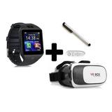 Combo Smartwatch Dz09 + Gafas Realidad Virtual Box + Control