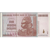 Zimbabwe 5 Billones Dollars 19 Dic 2008 P84