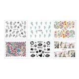 Promo Stickers Tatuajes Para Uñas X6. Tú Eliges Los Diseños