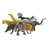 Muñecos Animales Salvajes X12 Colección Juguete Niño Rf 85