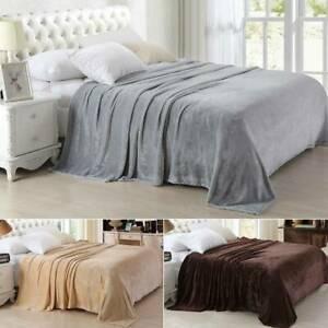 Manta Polar De Lujo Calido Cobertor Sofa Cama De Franela Ind
