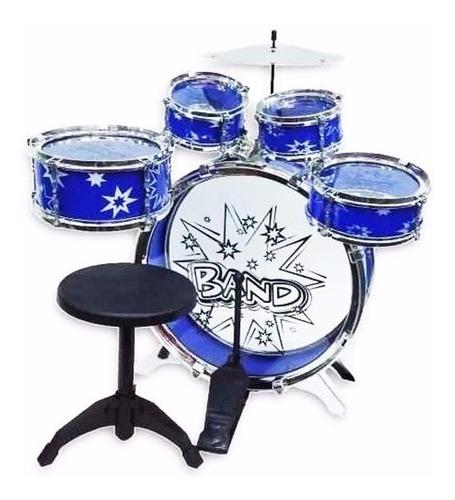 Batería Musical Big Bang 5 Tambores Y Silla Juguete Niños