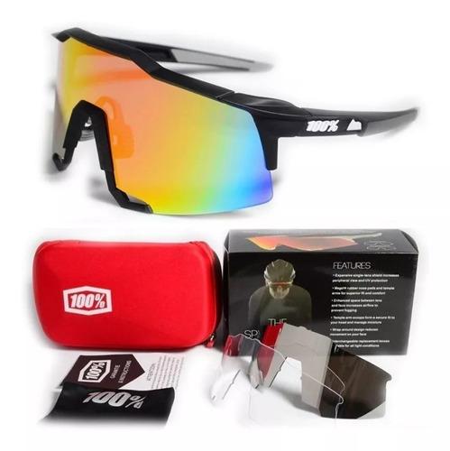 7b8e77f706 Gafas 100% Speedcraf Ciclismo Patinaje 3 Lentes Transitions