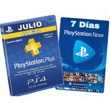 Ps Plus 14 Días + Ps Now 7 Días/entrega Inmediata Ps4|pc