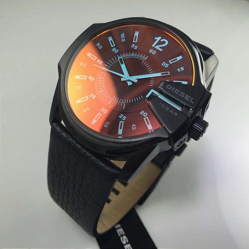 0b4a535e30a8 Reloj Diesel Para Hombre Dz1657 Con Correa De Cuero Negro