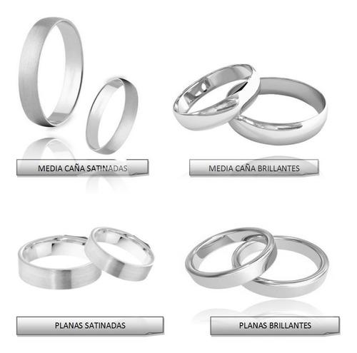 da76b42c71f3 Argollas Matrimonio Oro Blanco 18k Compromiso C u Garantia