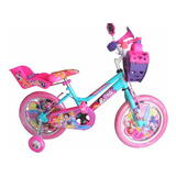 Bicicleta Para Niña Princesas Rin 16 Niñas De 4 A 7 Años