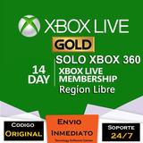 Xbox Live Gold 14 Dias Region Libre Trial