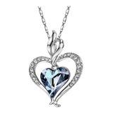 Collar Para Mujer Corazón Cristales Swarovski Regalo Ideal