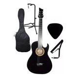 Guitarra Acustica Base Piso Forro Pua Colgador Aire Artesal