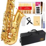 Glory Professional Alto Eb Sax Saxofon Gold Laquer Finish Sa