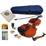 Kit Violin Greko Mv1412f Arce Veteado Estuche Arco Microfo /