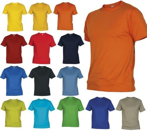 Camisetas Cuello Redondo Colores En Algodón 180 Gr de34cedd8b0