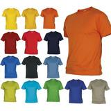 Camisetas Cuello Redondo Colores En Algodón 180 Gr