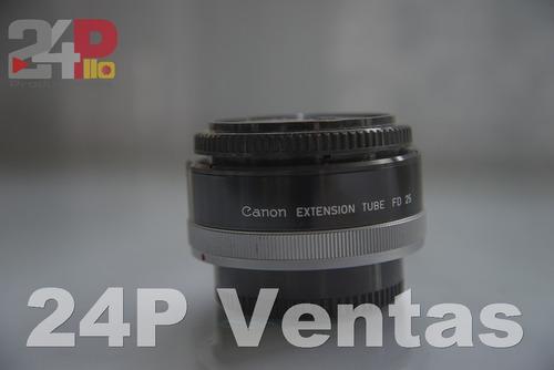 Tubo Extension Macro Para Lente Canon Fd Macro