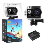 Camara De Accion 4k 60 Fps 30 Mts 24mp + Accesorios + 32gb