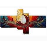 Cuadros Abstractos Decorativos Al Oleo En Lienzo 1.65x80 Cms