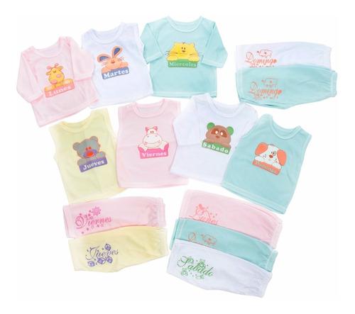 d3031cdc8 Semanario 14 Piezas Para Bebe Niña - Multicolor 0 - 3 Meses