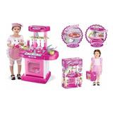 Cocina Maletín Juguete Horno Luz Sonidos Princesa 008-58