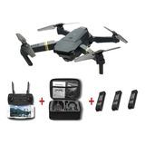 Drone E58 Video 2 Mp  Wifi Con 3 Baterias + Maletin