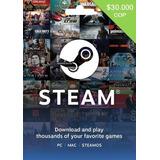 Tarjeta Steam Wallet 30.000 Pesos Entrega Inmediata