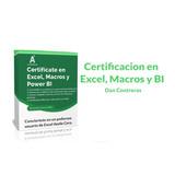 Excel Intermedio Y Avanzado , Macros Y Power Bi 4 En 1