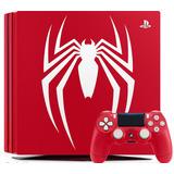 Consola Ps4 Roja 1tb Spider Man 4k Edicion Especial