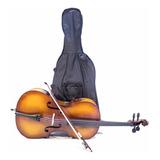 Cello Greko Mc6011 4/4 En Abeto Estuche Y Arco Violonchelo /