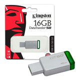 Memoria Usb 16gb Kingston Dt50 3.1/3.0/2.0 Al Por Mayor