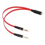 Cable Divisor De Audio Triestereo 2 Machos A 1 Hembra 3.5 Mm
