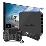Super Combo Tv Box 4k + Control + Teclado Touch + Envio Blac