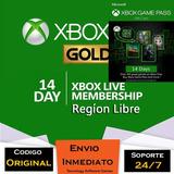 Xbox Live Gold 14 Días + Game Pass 1 Mes Código Entrega Ya