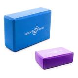 Cubo Para Yoga Bloque Sportfitness Gym Morado- Azul